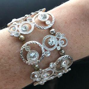 Vintage heavy sparkly bracelet